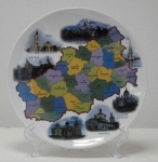Современная карта Тверской области